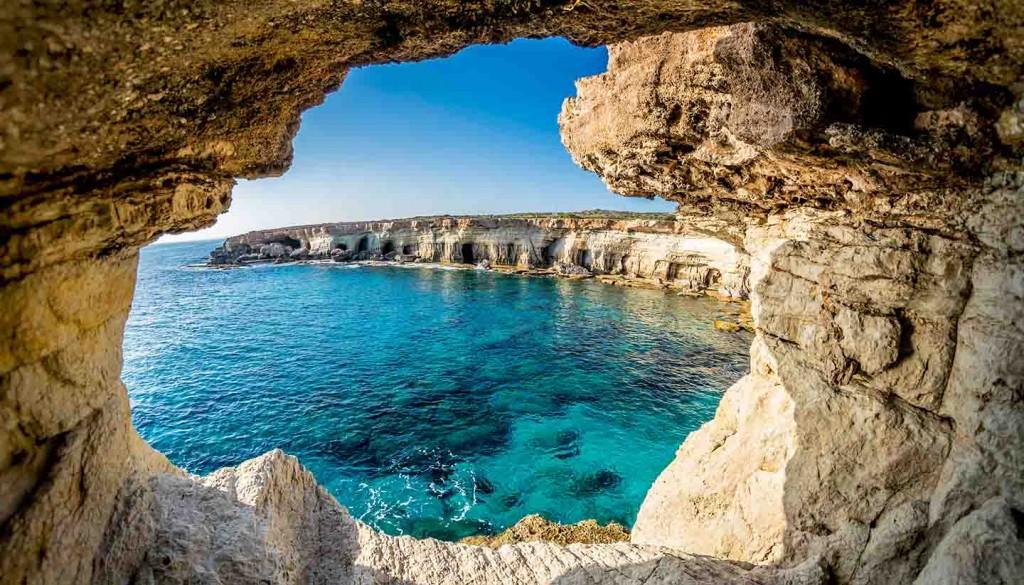 Sea Caves near Ayia Napa, Cyprus